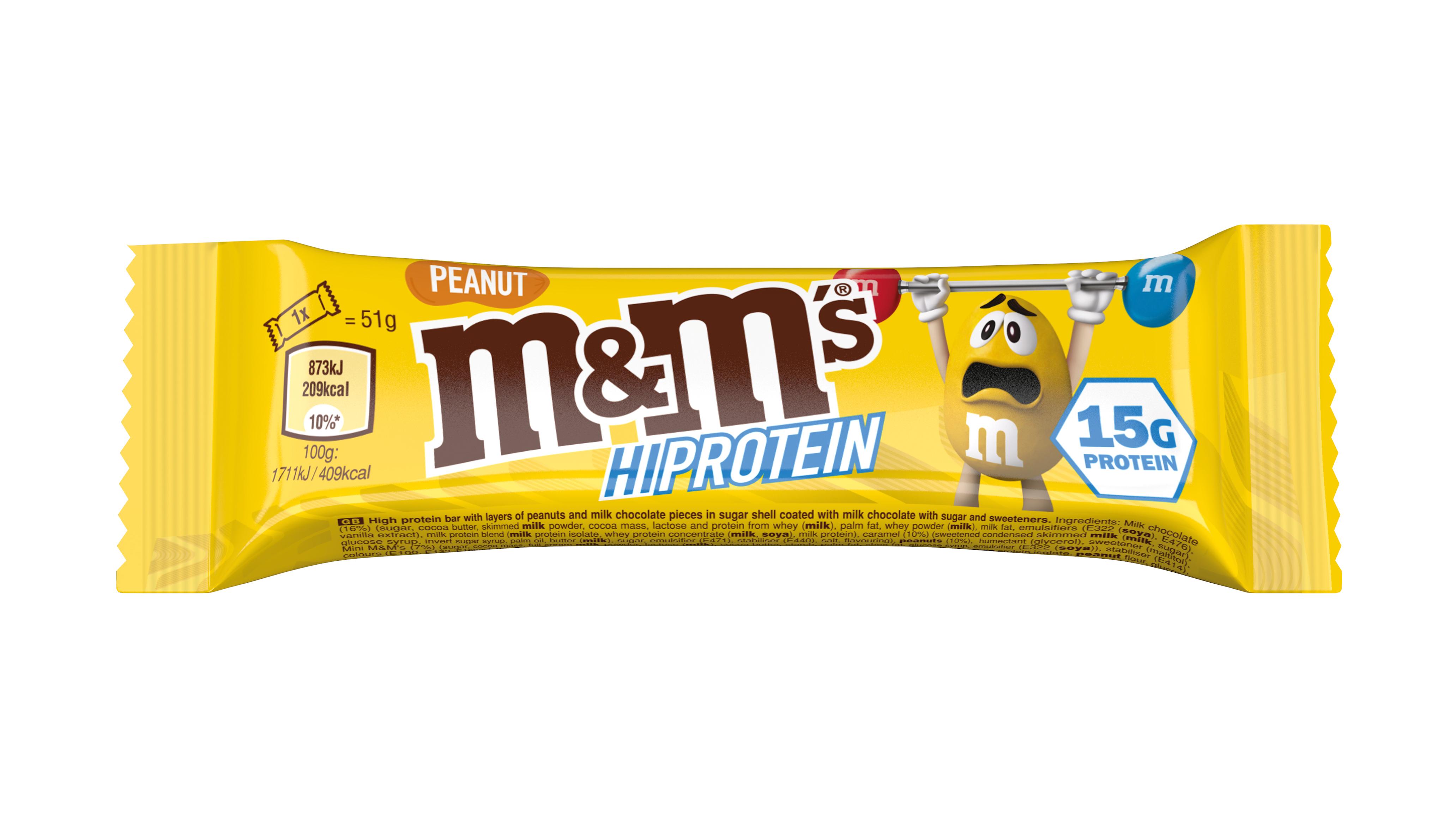 M&M 15g Protein PEANUT BAR UK - web