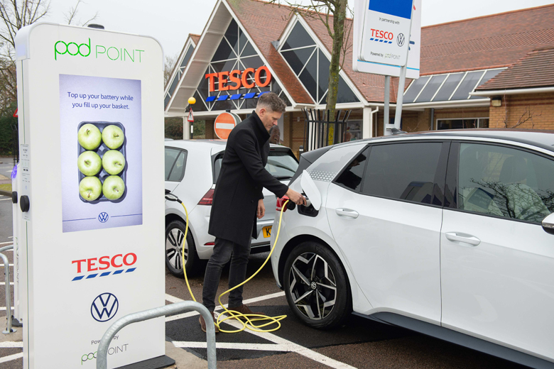 Tesco electric charging